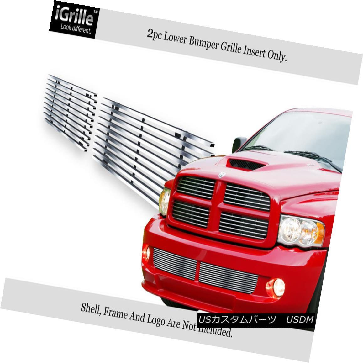 グリル Fits 2004-2006 Dodge Ram SRT 10 Bumper Stainless Steel Billet Grille Insert 2004-2006 Dodge Ram SRT 10バンパーステンレススチールビレットグリルインサート
