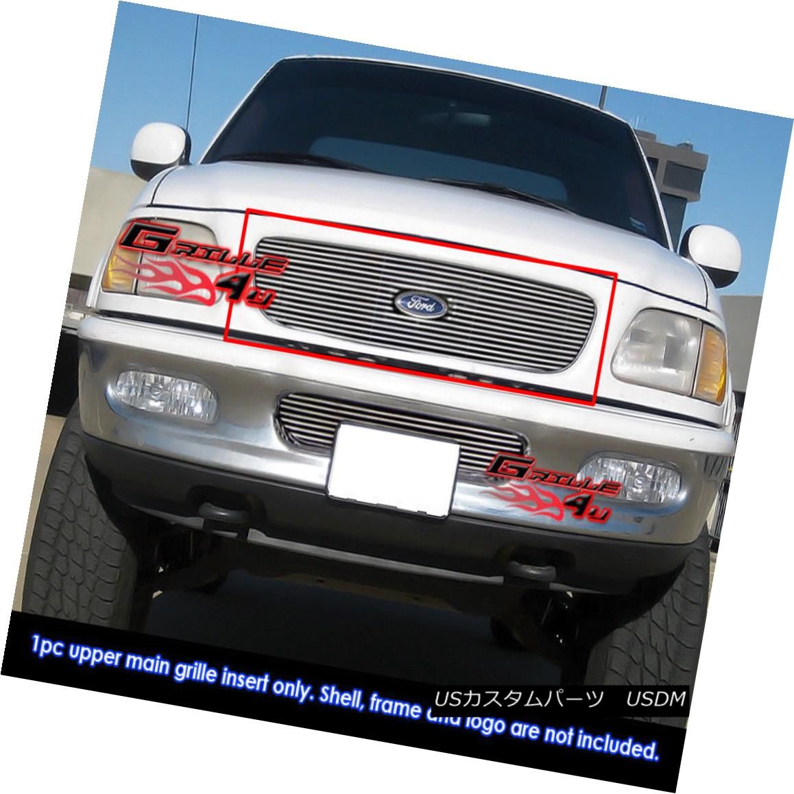 グリル Fits 1997-1998 Ford Expedition Main Upper Billet Grille Grill Insert 1997-1998 Ford Expeditionメインアッパービレットグリルグリルインサート