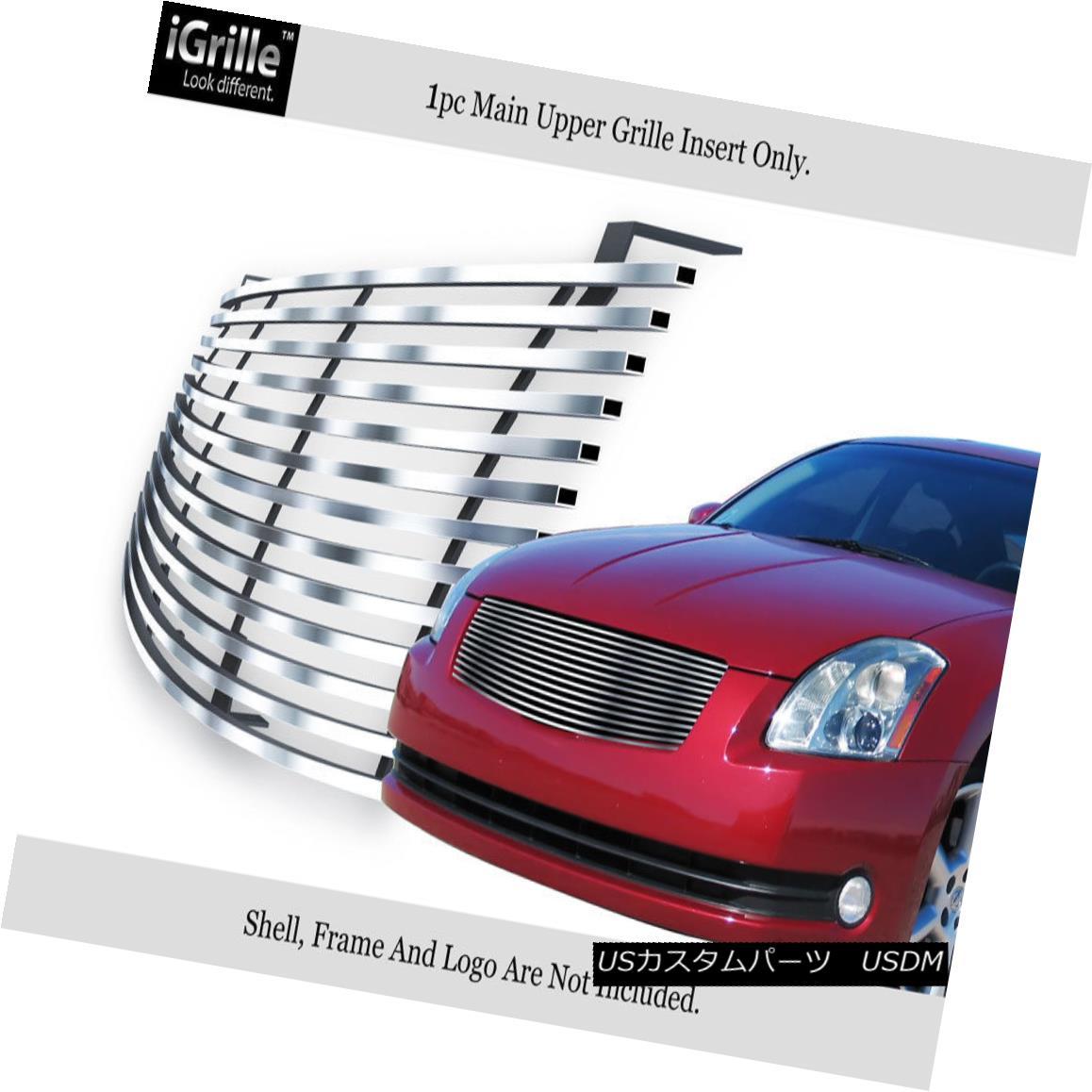 グリル Fits 2004-2006 Nissan Maxima Stainless Steel Billet Grille Insert フィット2004-2006日産マキシマステンレス鋼ビレットグリルインサート