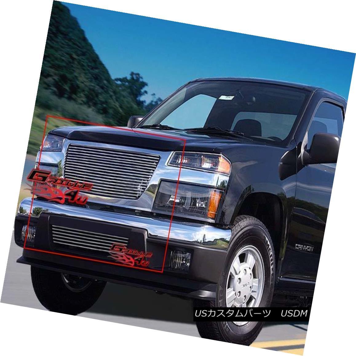 グリル Fits 04-11 2011 GMC Canyon Billet Grille Combo フィット04-11 2011 GMCキャニオンビレットグリルコンボ