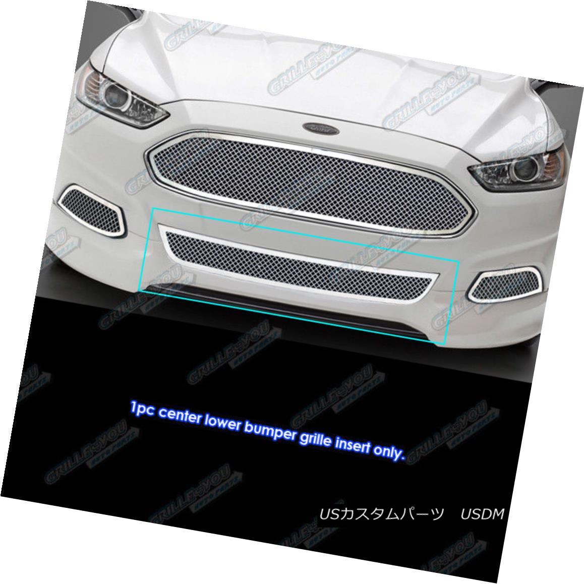 グリル Fits 2013-2016 Ford Fusion Stainless Lower Lower Bumper Mesh Grille Insert 2013-2016 Ford Fusionステンレス下部ロワーバンパーメッシュグリルインサート