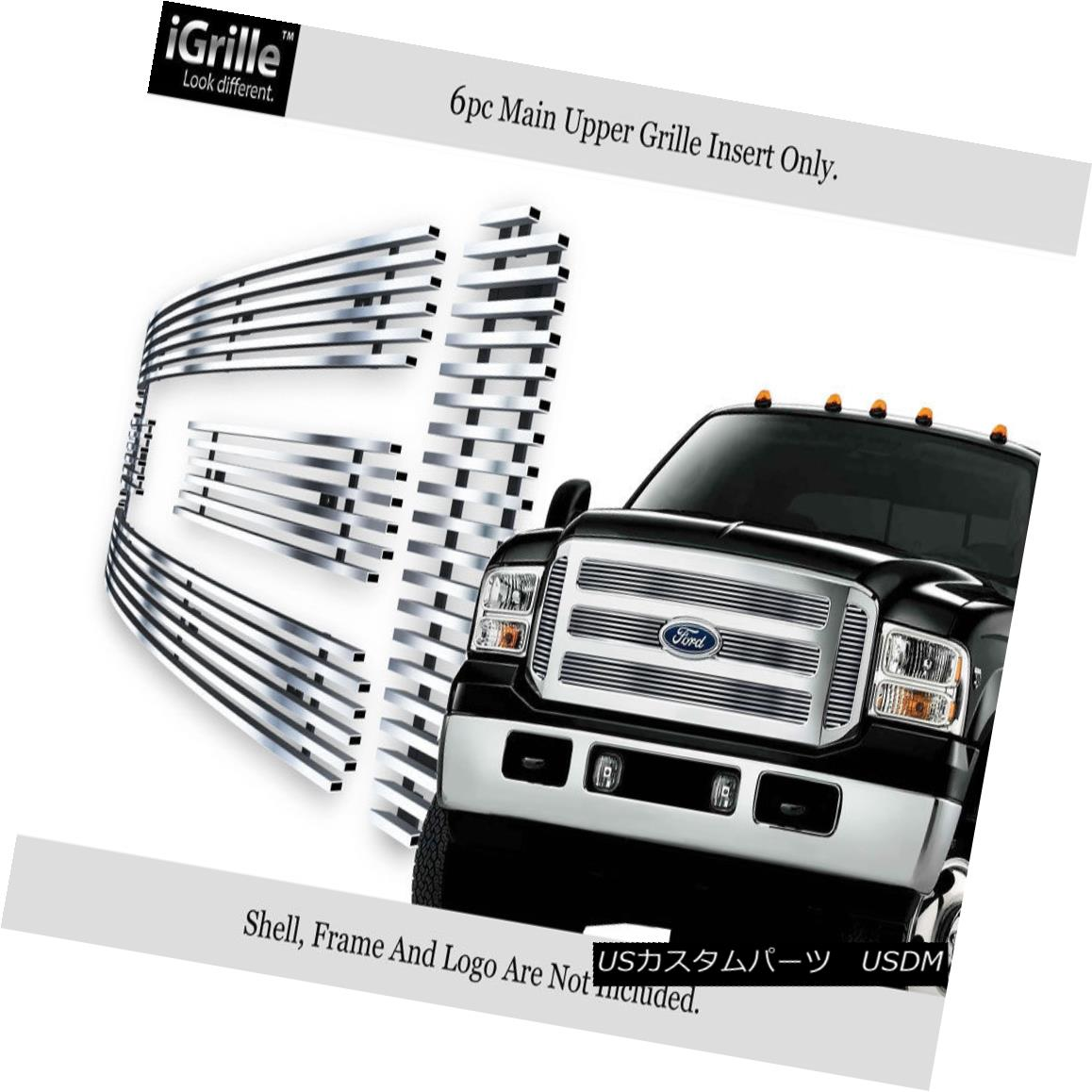 USグリル Fits 05-07 Ford F-250/F-350 SD/Excursion Stainless Steel Billet Grille フィット05-07 Ford F-250 / F-350 SD /エクスカーションステンレス鋼ビレットグリル