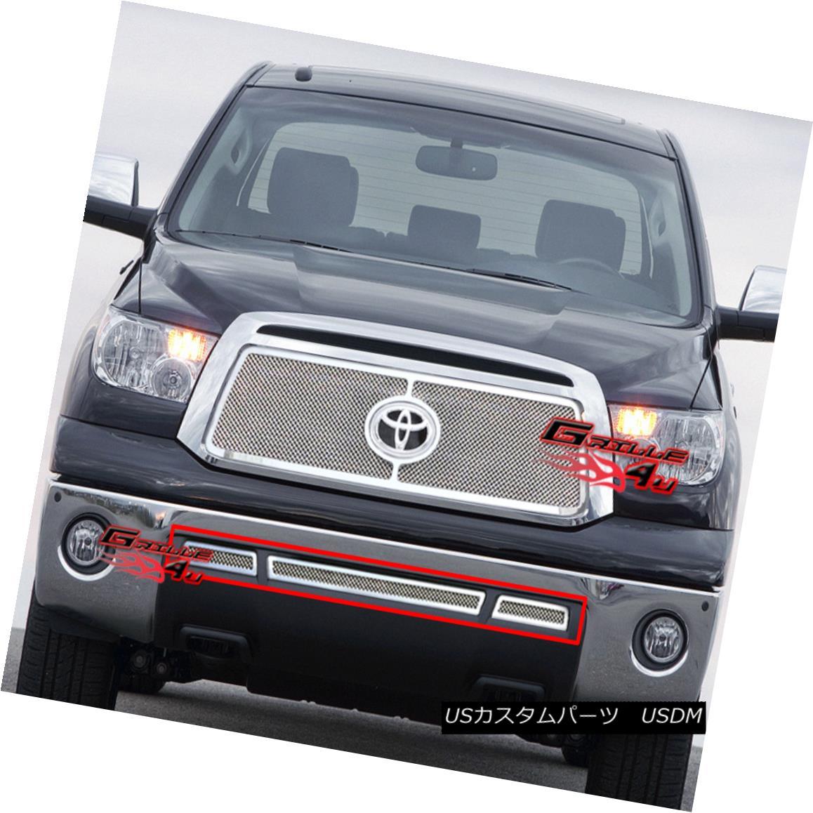 グリル Fits 2010-2013 Toyota Tundra Stainless Steel Mesh Grille Grill Insert フィット2010-2013トヨタトンドラステンレスメッシュグリルグリルインサート