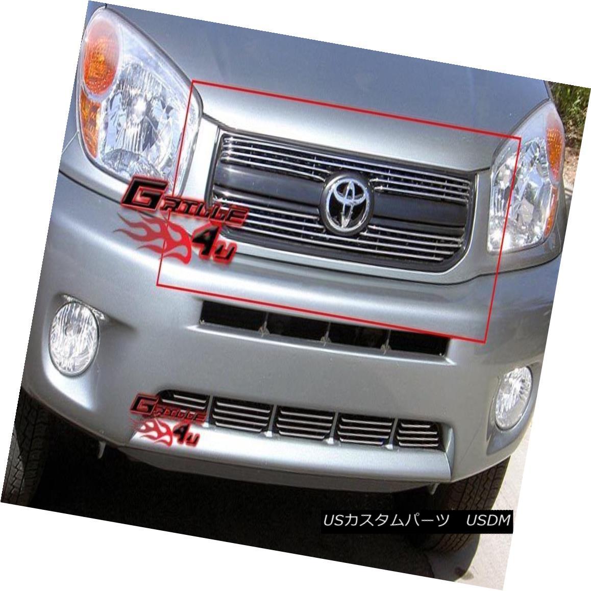 グリル Fits 2004-2005 Toyota RAV4 Main Upper Billet Grille Insert フィッティング2004-2005トヨタRAV4メインアッパービレットグリルインサート