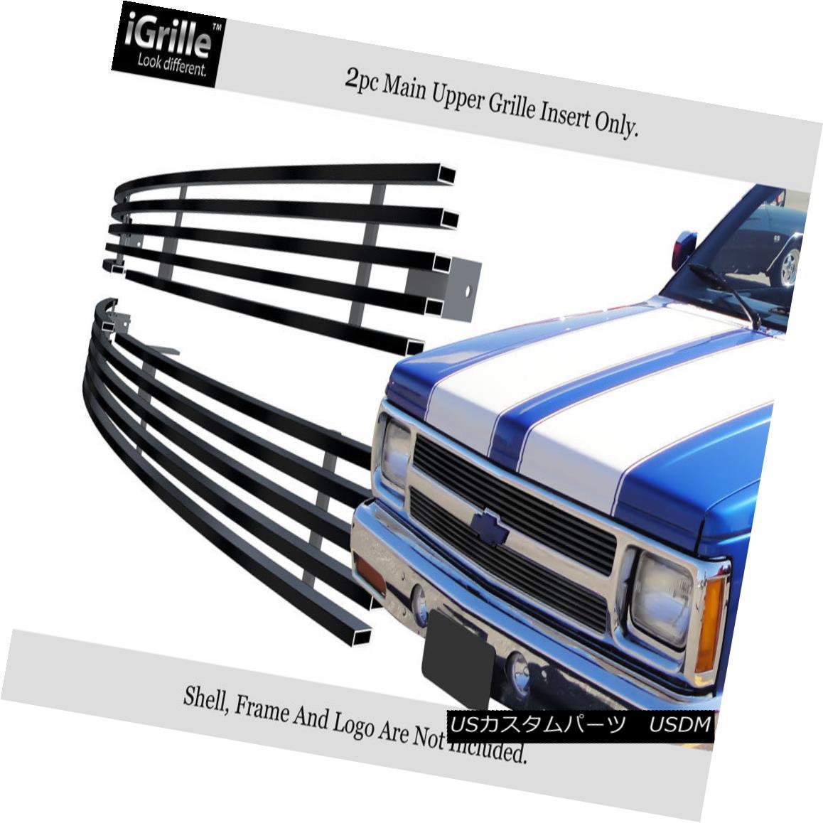 グリル For 91-92 Chevy S10 /91-93 S-10 Blazer Black Stainless Steel Billet Grille 91-92 Chevy S10 / 91-93 S-10ブレイザーブラックステンレススチールビレットグリル