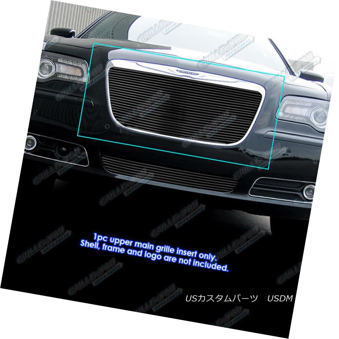 グリル Fits 2011-2014 Chrysler 300/300C Black Billet Grille Grill Insert 2011-2014年に適合するクライスラー300 / 300Cブラックビレットグリルグリルインサート