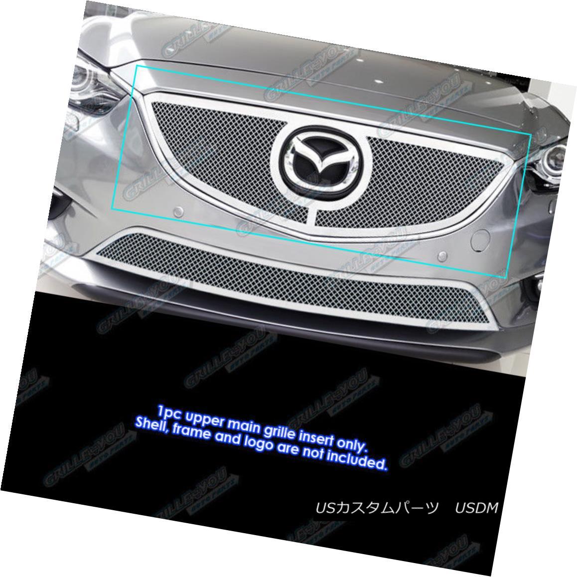 グリル Fits 2014-2016 Mazda 6 Stainless Mesh grille Insert フィット2014-2016マツダ6ステンレスメッシュグリルインサート