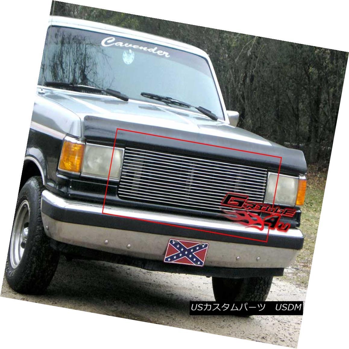 グリル Fits 1987-1991 Ford Bronco/F-Series Pickup Billet Grille Insert フィット1987-1991 Ford Bronco / F-Serie s Pickup Billet Grille Insert