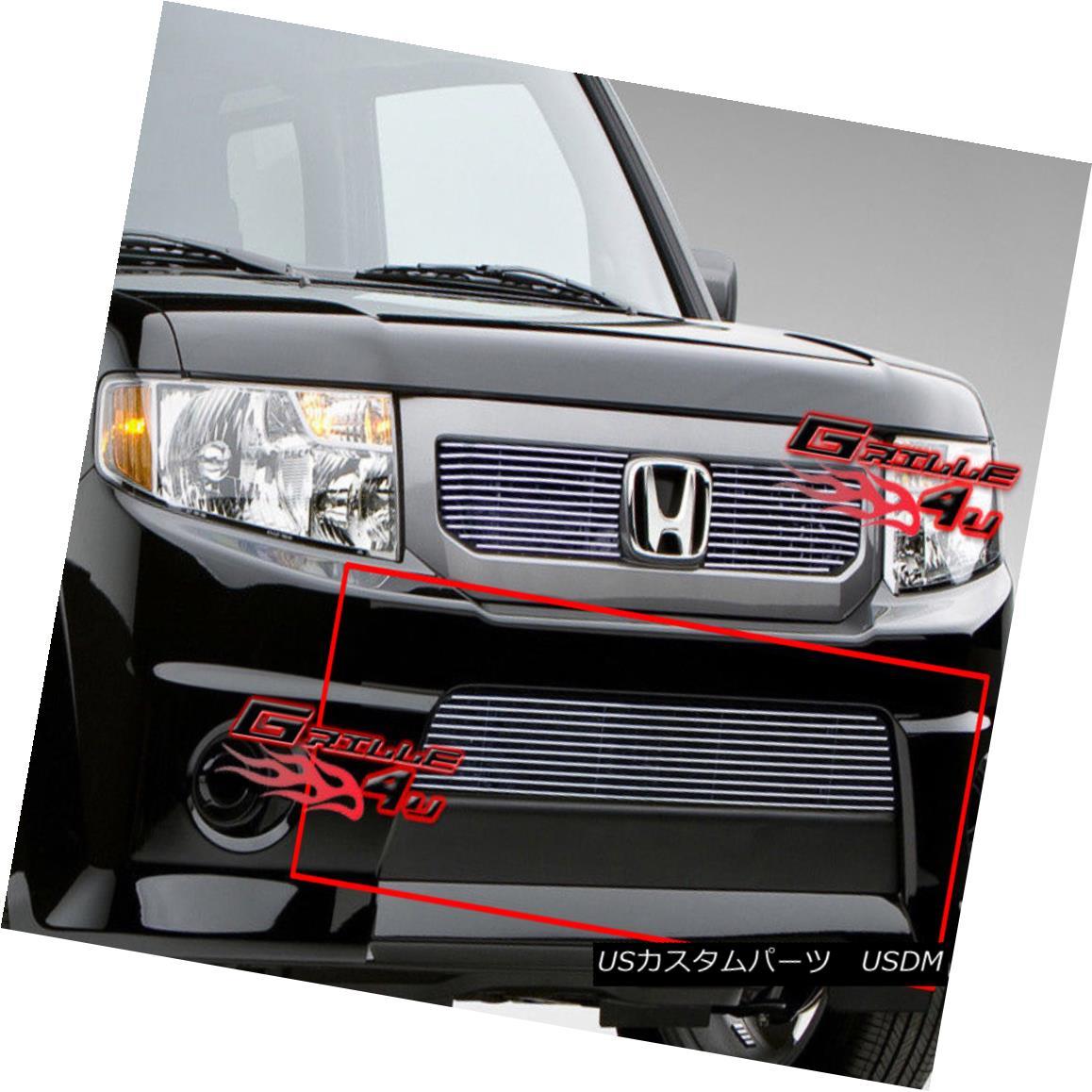 グリル Fits 09-11 2011 Honda Element SC Lower Bumper Billet Grille Insert フィット09-11 2011ホンダエレメントSCロワーバンパービレットグリルインサート