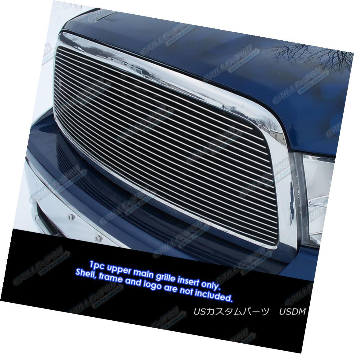 グリル Fits 2009-2012 Dodge Ram 1500 Pickup Truck Billet Grille Grill Insert フィット2009-2012ダッジラム1500ピックアップトラックビレットグリルグリルインサート