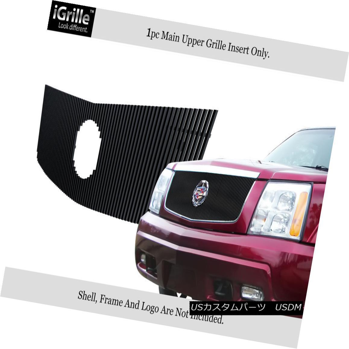 グリル For 2002-2006 Cadillac Escalade Stainless Black Vertical Billet Grille 2002-2006 Cadillac Escaladeステンレスブラック縦型ビレットグリル