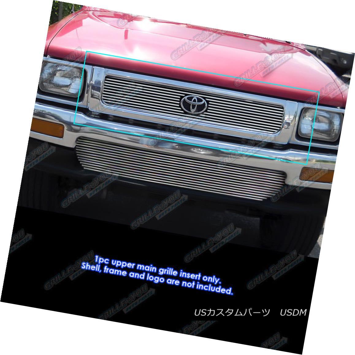 グリル Fits 1992-1994 Toyota Truck 4WD Main Upper Billet Grille Insert 1992-1994 Toyota Truck 4WDメインアッパービレットグリルインサート