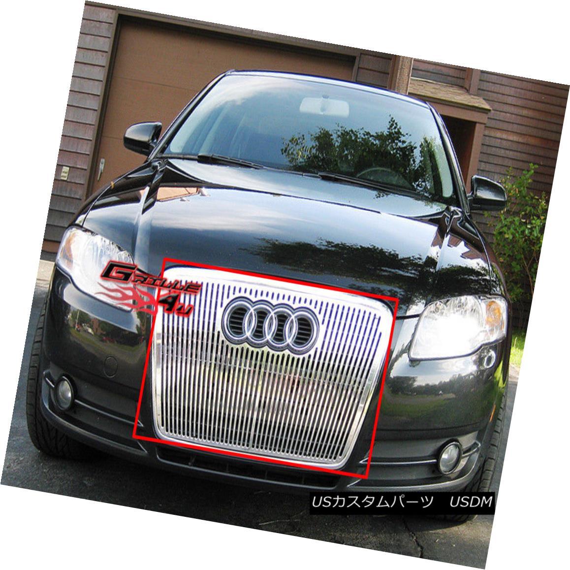 グリル Fits 2006-2007 Audi A4 Perimeter Grille Insert 2006-2007 Audi A4ペリメーターグリルインサートに適合