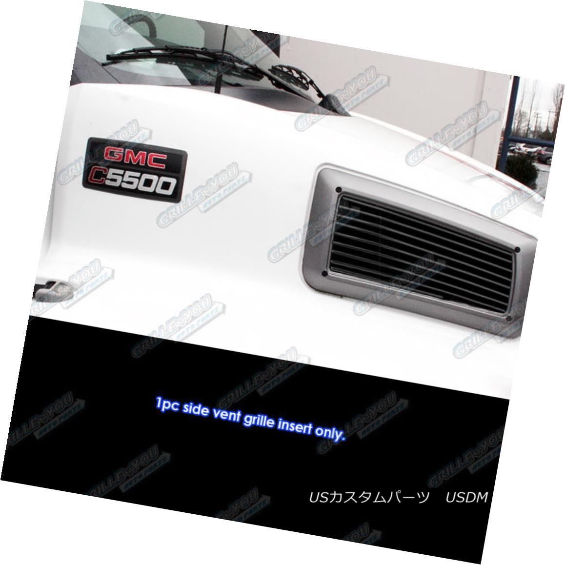 グリル For 2003-2009 Chevy Kodiak C4500/C5500 Side Vent Black Billet Grille insert 2003-2009シボレーコディアックC4500 / C5500サイドベントブラックビレットグリルインサート用