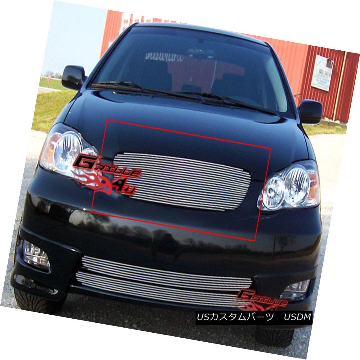 グリル Fits 2003-2004 Toyota Corolla Billet Grille Grill Insert フィット2003-2004トヨタカローラビレットグリルグリルインサート