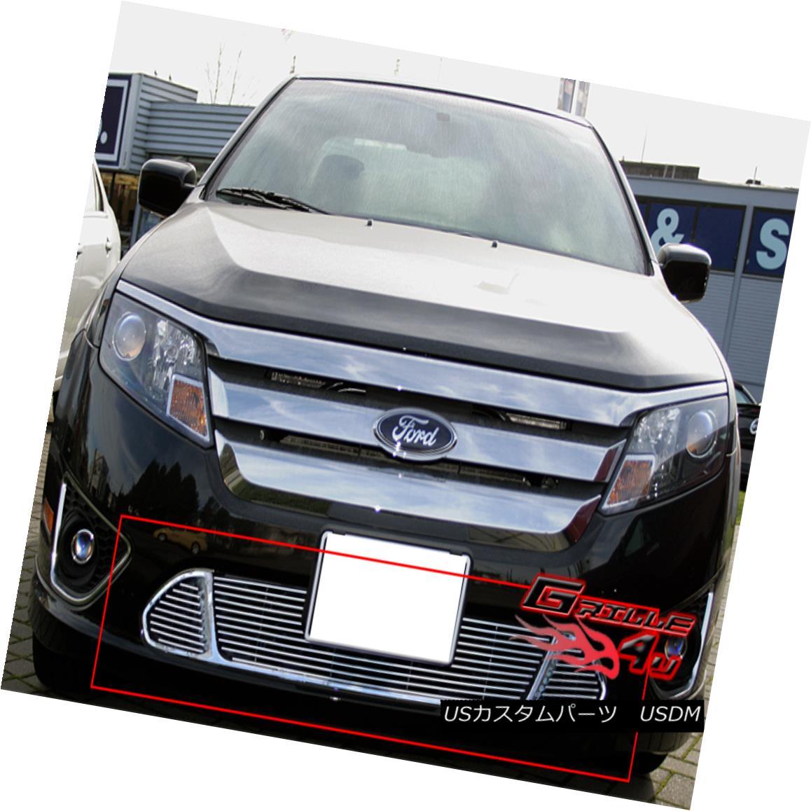 グリル Fits 2010-2012 Ford Fusion Sport Bumper Billet Grille フィット2010-2012フォードフュージョンスポーツバンパービレットグリル