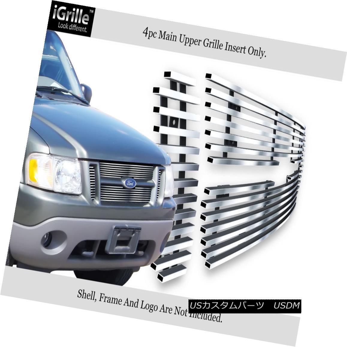 グリル Fits 2001-2006 Ford Explorer Sport Trac Stainless Steel Billet Grille Insert フィット2001-2006フォードエクスプローラースポーツTracステンレス鋼ビレットグリルインサート