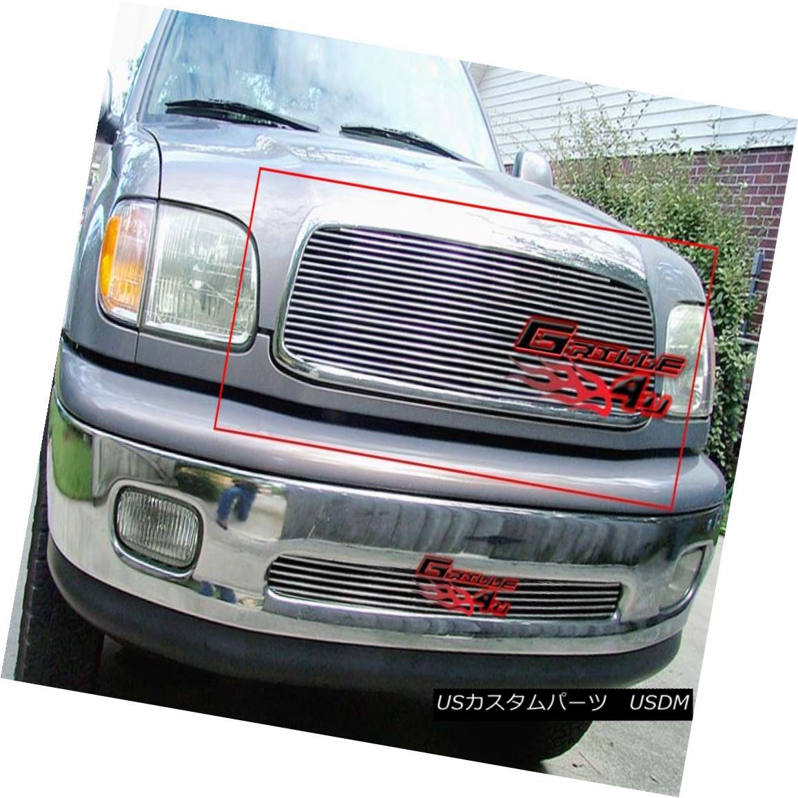 グリル Fits 1999-2002 Toyota Tundra Billet Grille Insert 1999-2002トヨタ・トンドラ・ビレット・グリル・インサートに適合