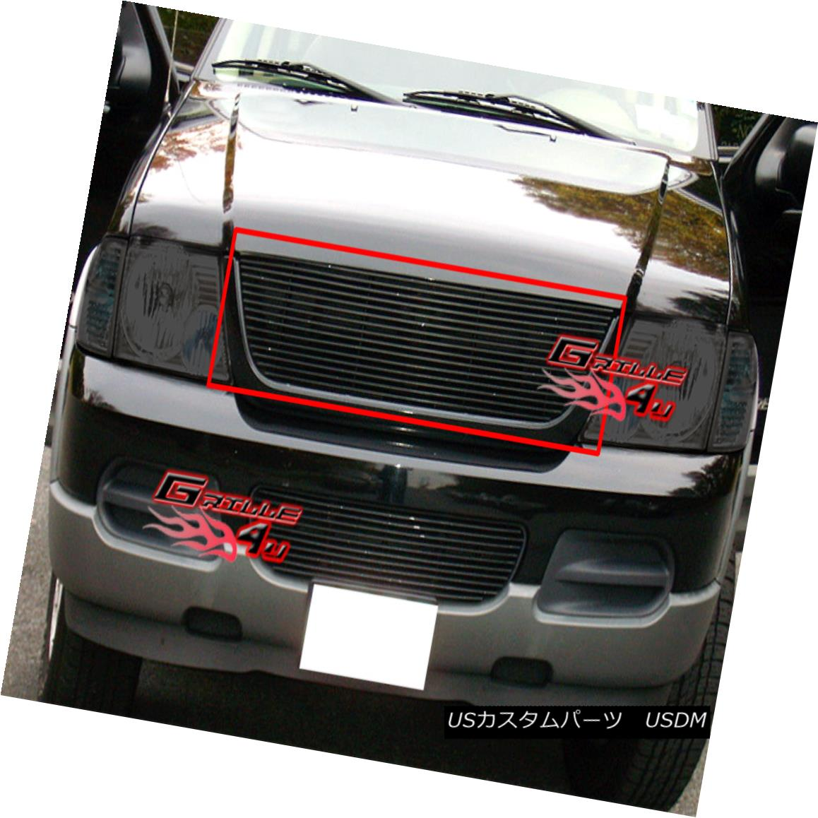 グリル Fits 2003-2006 Ford Expedition Black Billet Grille Insert フィット2003-2006フォード遠征ブラックビレットグリルインサート