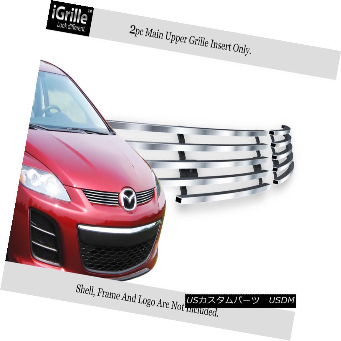 グリル For 2010-2012 Mazda CX-7 CX7 Stainless Steel Billet Grille Grill Insert 2010-2012マツダCX-7 CX7ステンレス鋼ビレットグリルグリルインサート用