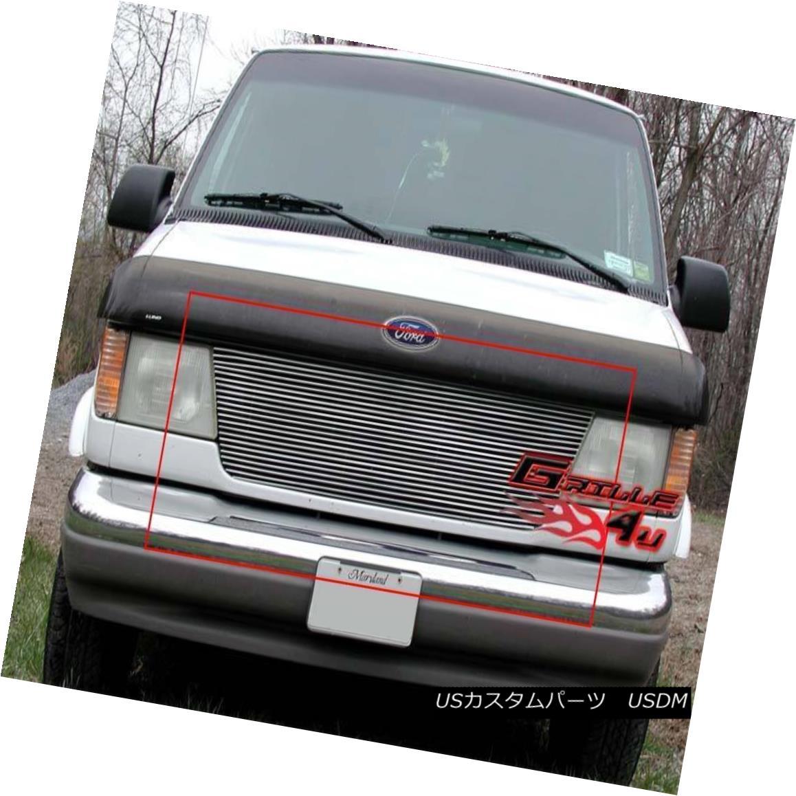 グリル Fits 1992-2006 Ford Econoline Van Main Upper Billet Grille Insert 1992-2006 Ford Econoline Vanメインアッパービレットグリルインサート