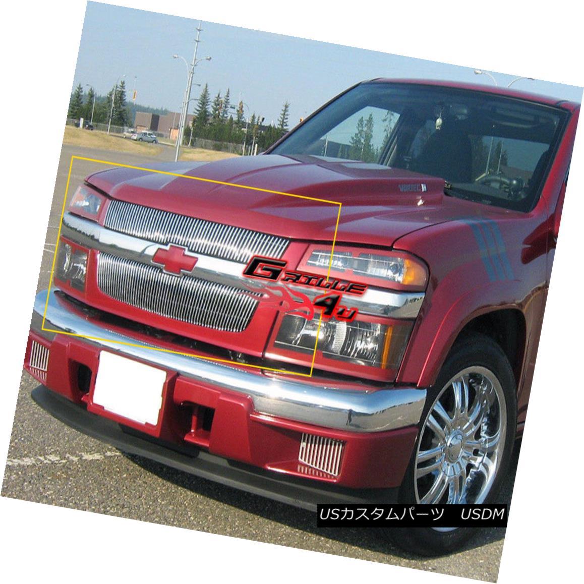 グリル Fits 04-11 2011 Chevy Colorado Main Upper Billet Grille Insert フィット04-11 2011シボレーコロラドメインアッパービレットグリルインサート