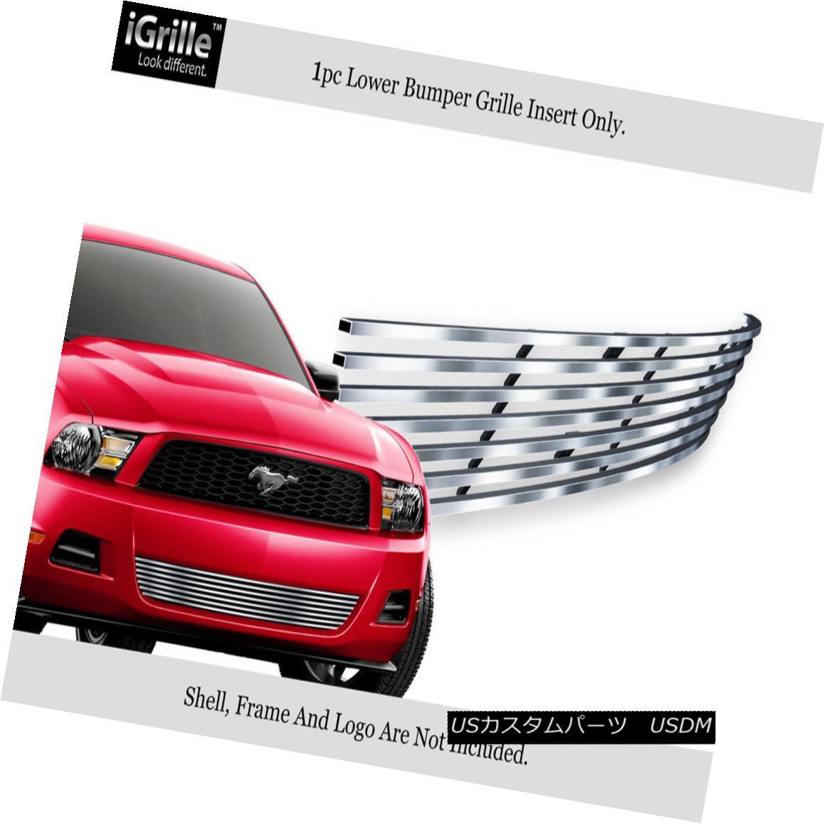 グリル Fits 10-11 2011 Ford Mustang V6 Stainless Steel Bumper Billet Grille Insert フィット10-11 2011フォードマスタングV6ステンレス鋼バンパービレットグリルインサート