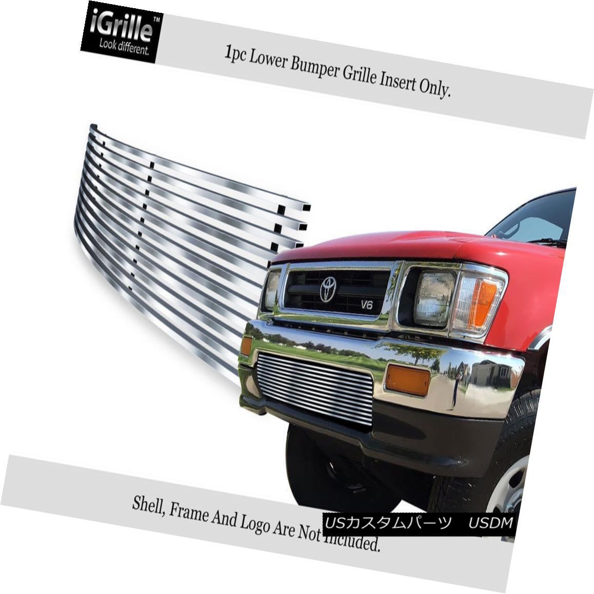 グリル For 92-94 Toyota Pickup Truck 4WD Stainless Steel Billet Bumper Grille 92-94トヨタのピックアップトラック用4WDステンレス鋼ビレットバンパーグリル