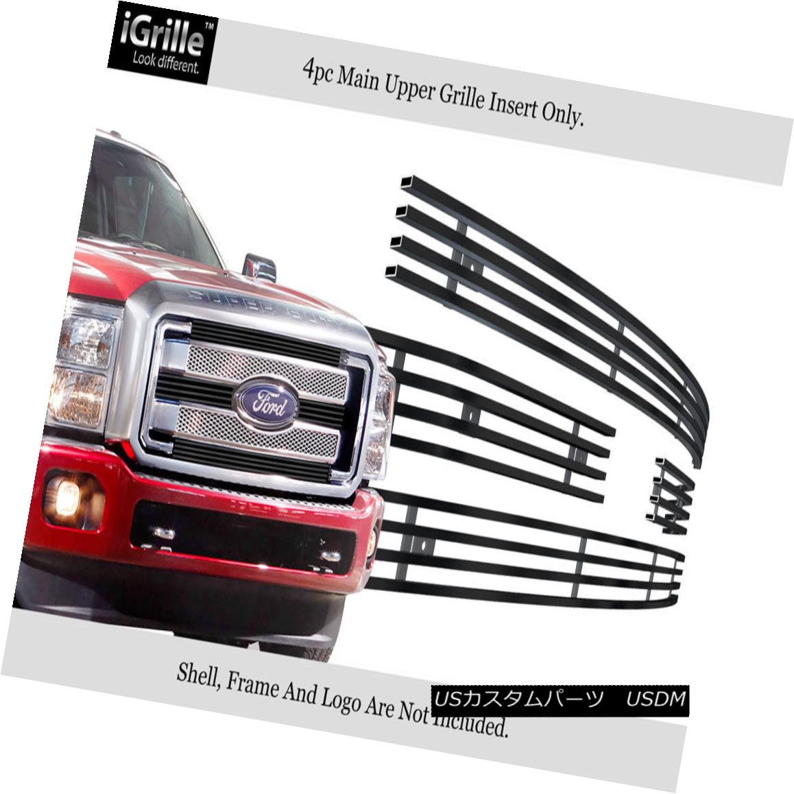 グリル For 2011-2016 Ford F250/F350 SD XLT/King Ranch Black Stainless Billet Grille 2011-2016 Ford F250 / F350 SD XLT / King Ranchブラックステンレスビレットグリル