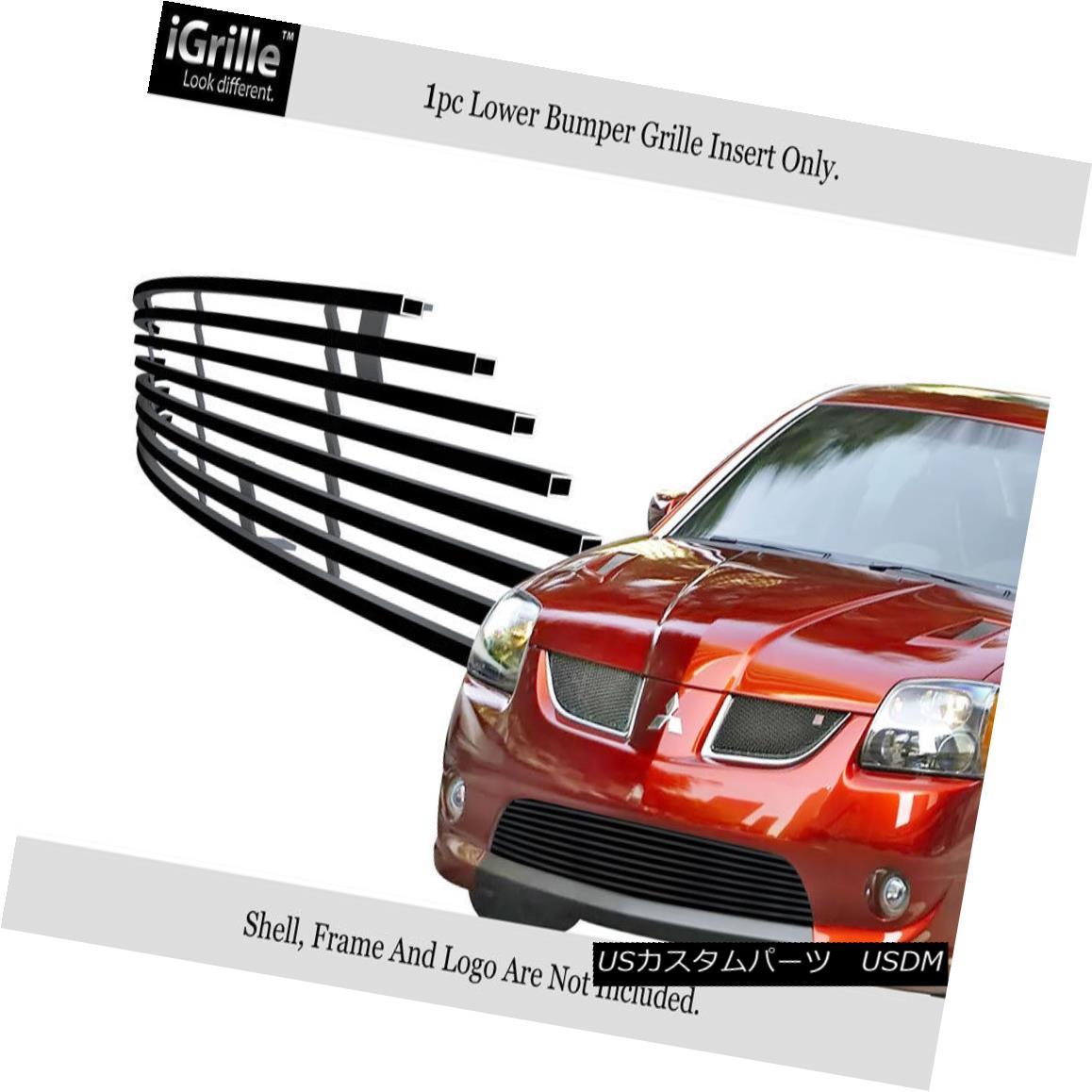 グリル For 2004-2006 Mitsubishi Galant Ralliart Stainless Black Bumper Billet Grille 2004-2006三菱ギャランラリートステンレスブラックバンパービレットグリル