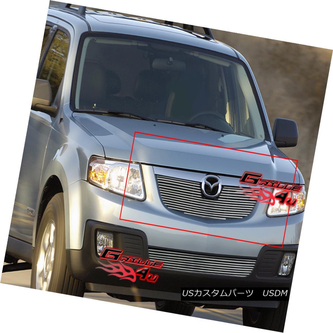 グリル Fits 2008-2011 Mazda Tribute Billet Grille Insert フィット2008年から2011年マツダトリビュートビレットグリルインサート