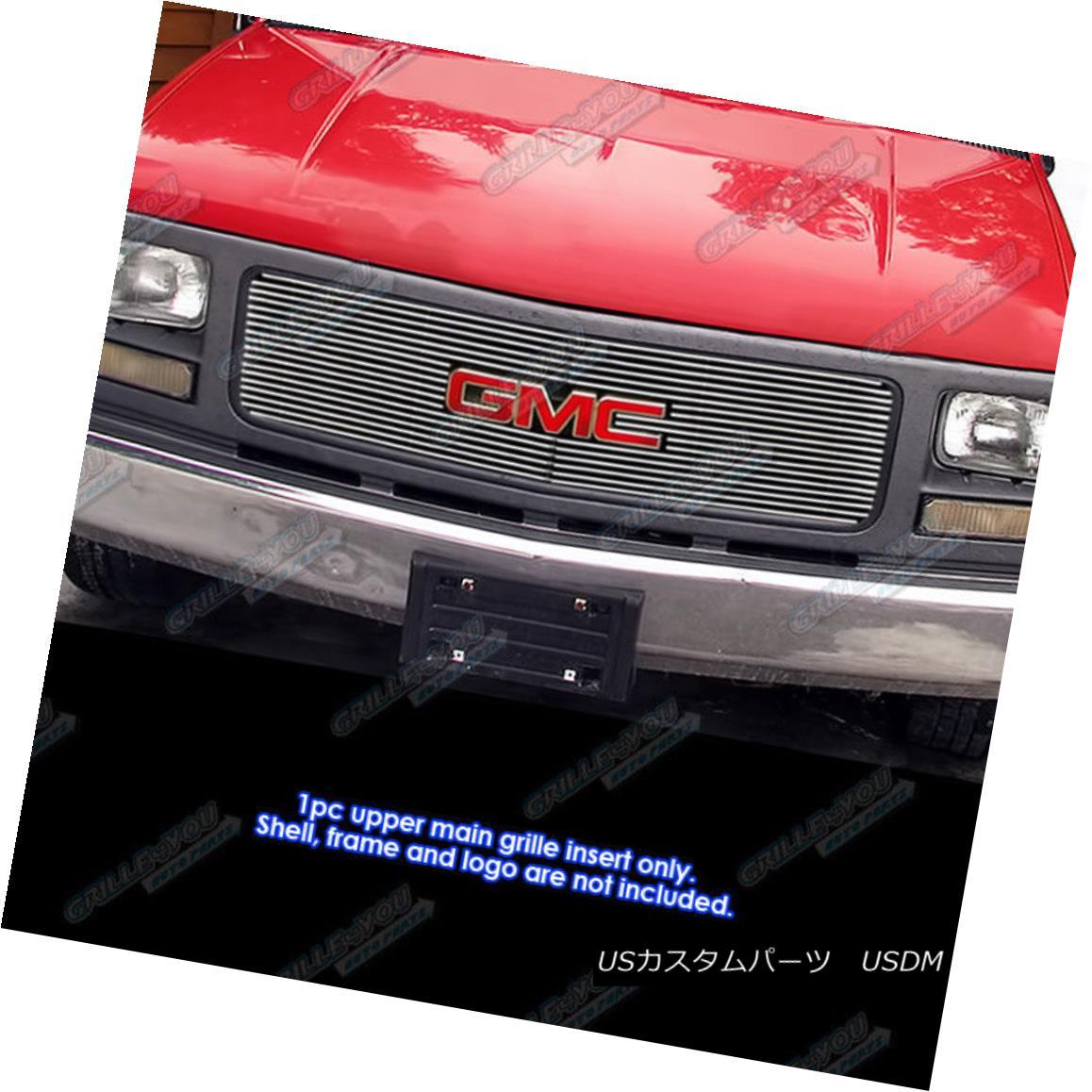 グリル For 94-98 GMC C/K Pickup/94-99 Suburban/Yukon Single Lights Billet Grille Grill 94-98 GMC C / Kピックアップ/ 94-99郊外/ユーコンシングルライトビレットグリルグリル