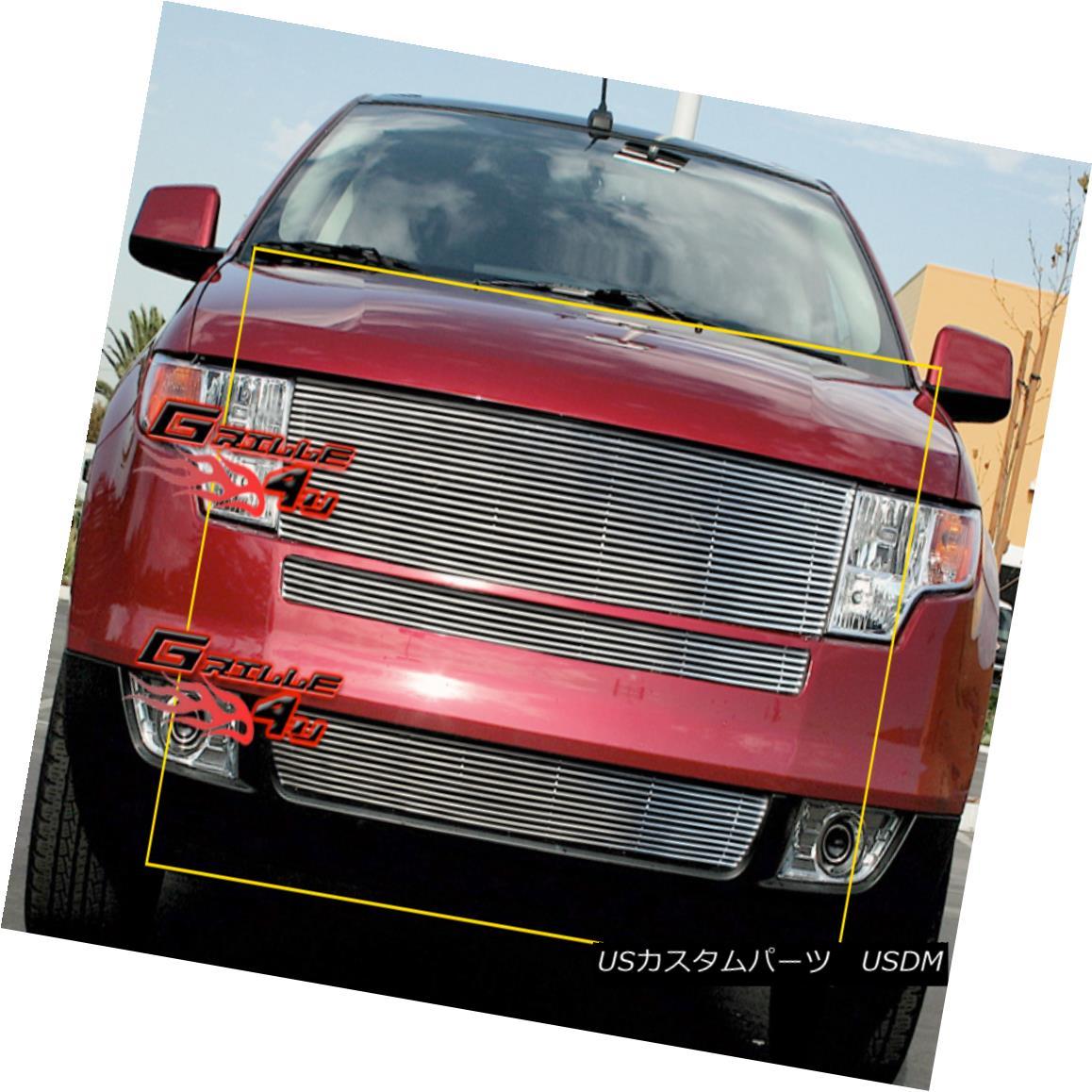 グリル Fits 2007-2010 Ford Edge Billet Grille Insert Ford Edgeビレットグリルインサート2007年?2010年