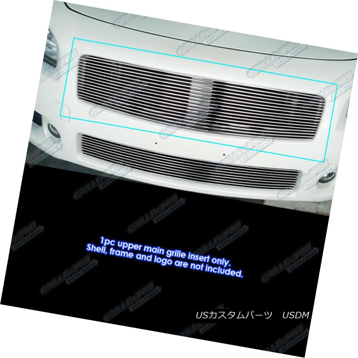 グリル Fits 2009-2014 Nissan Maxima Upper Billet Grille Grill Insert フィット2009-2014日産マキシマアッパービレットグリルグリルインサート