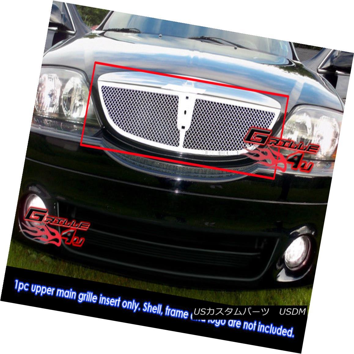 グリル Fits 00-02 Lincoln LS Stainless Steel Mesh Grille Insert フィット00-02リンカーンLSステンレスメッシュグリルインサート