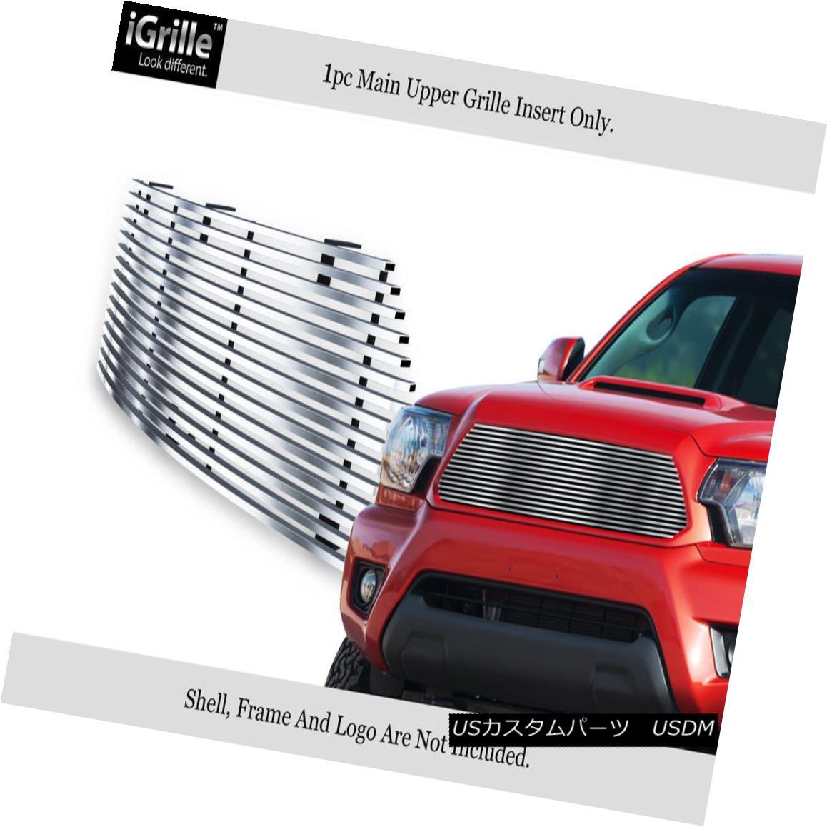 グリル Fits 2012-2014 Toyota Tacoma Stainless Steel Billet Grille Grill Insert フィット2012-2014トヨタタコマステンレス鋼ビレットグリルグリルインサート