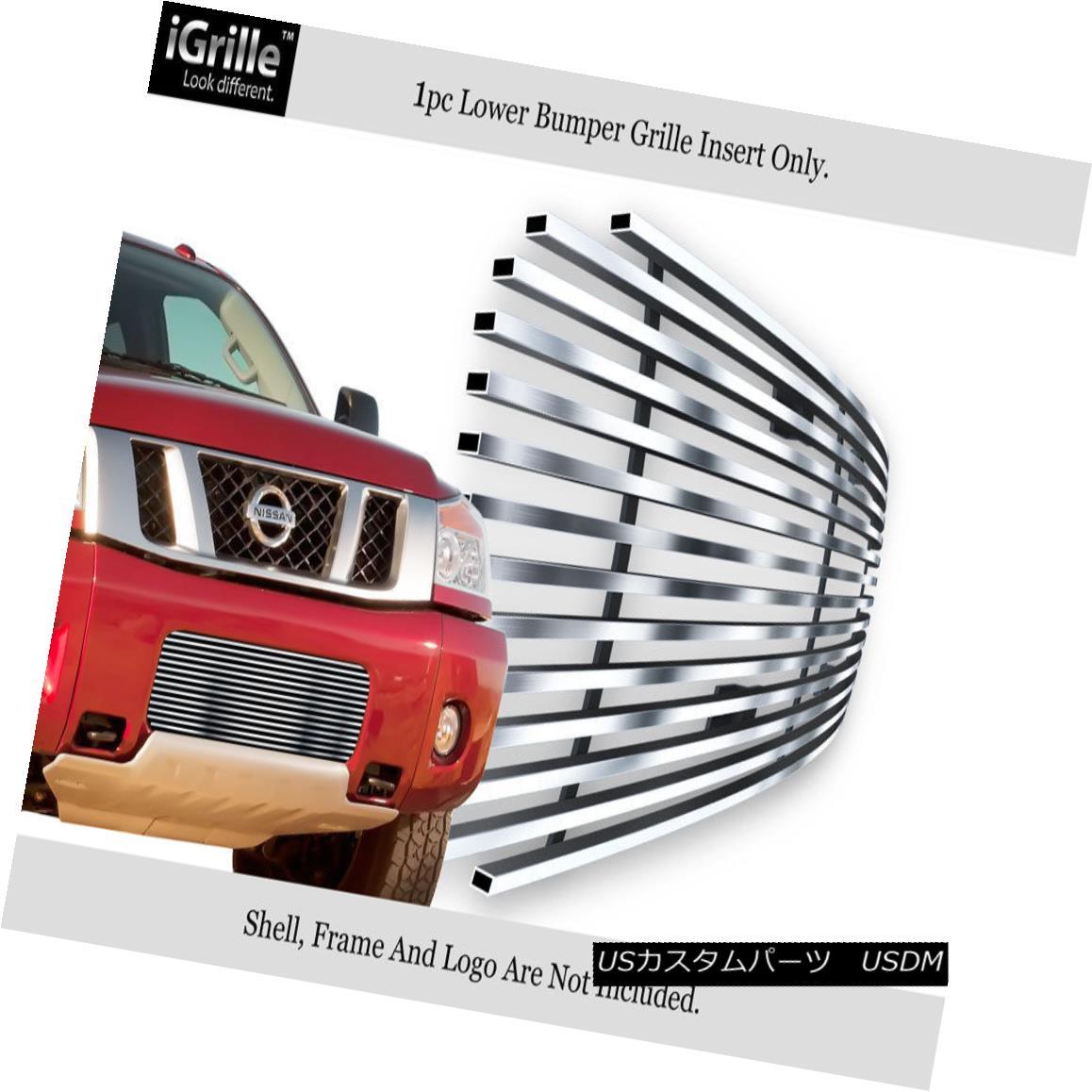 グリル For 2004-2015 Nissan Titan/04-07 Armada Bumper Stainless Billet Grille Insert 2004-2015年Nissan Titan / 04-07 Armadaバンパーステンレスビレットグリルインサート