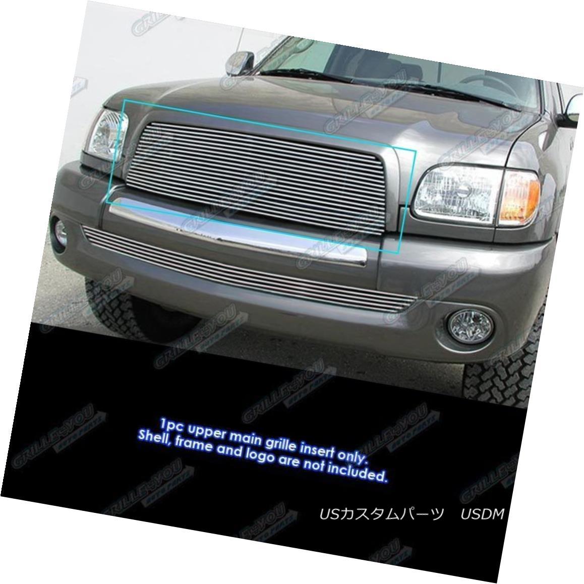 グリル Fits 2003-2006 Toyota Tundra Main Upper Billet Grille Grill Insert 2003-2006 Toyota Tundraメインアッパービレットグリルグリルインサート