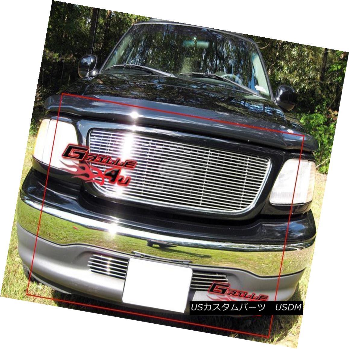 グリル Fits 1999-2003 Ford F-150/ F150 2WD Billet Grille Combo フィット1999-2003フォードF-150 / F150 2WDビレットグリルコンボ