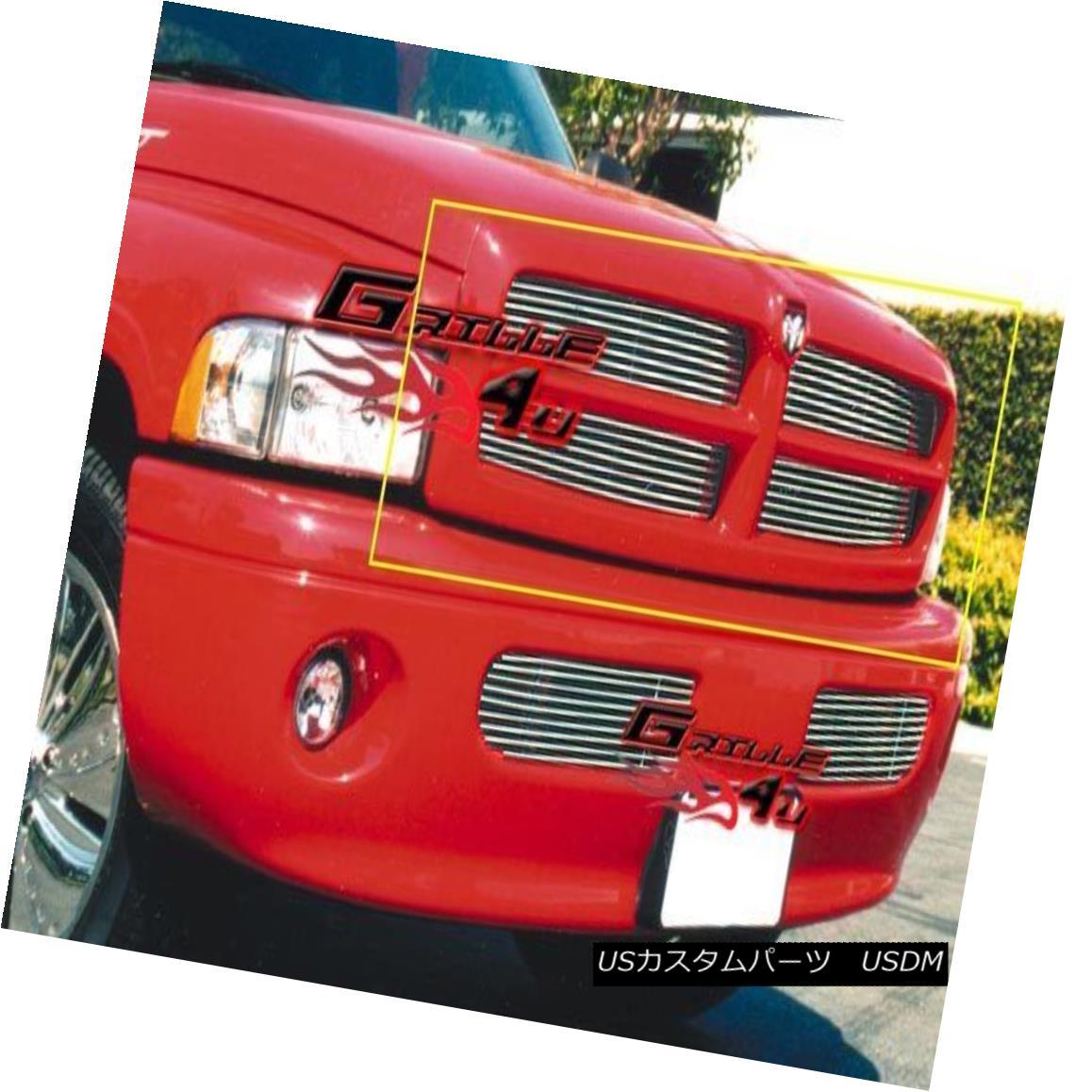 グリル Fits 1999-2001 Dodge Ram Main Upper Billet Grille Insert フィット1999-2001ドッジラムメインアッパービレットグリルインサート