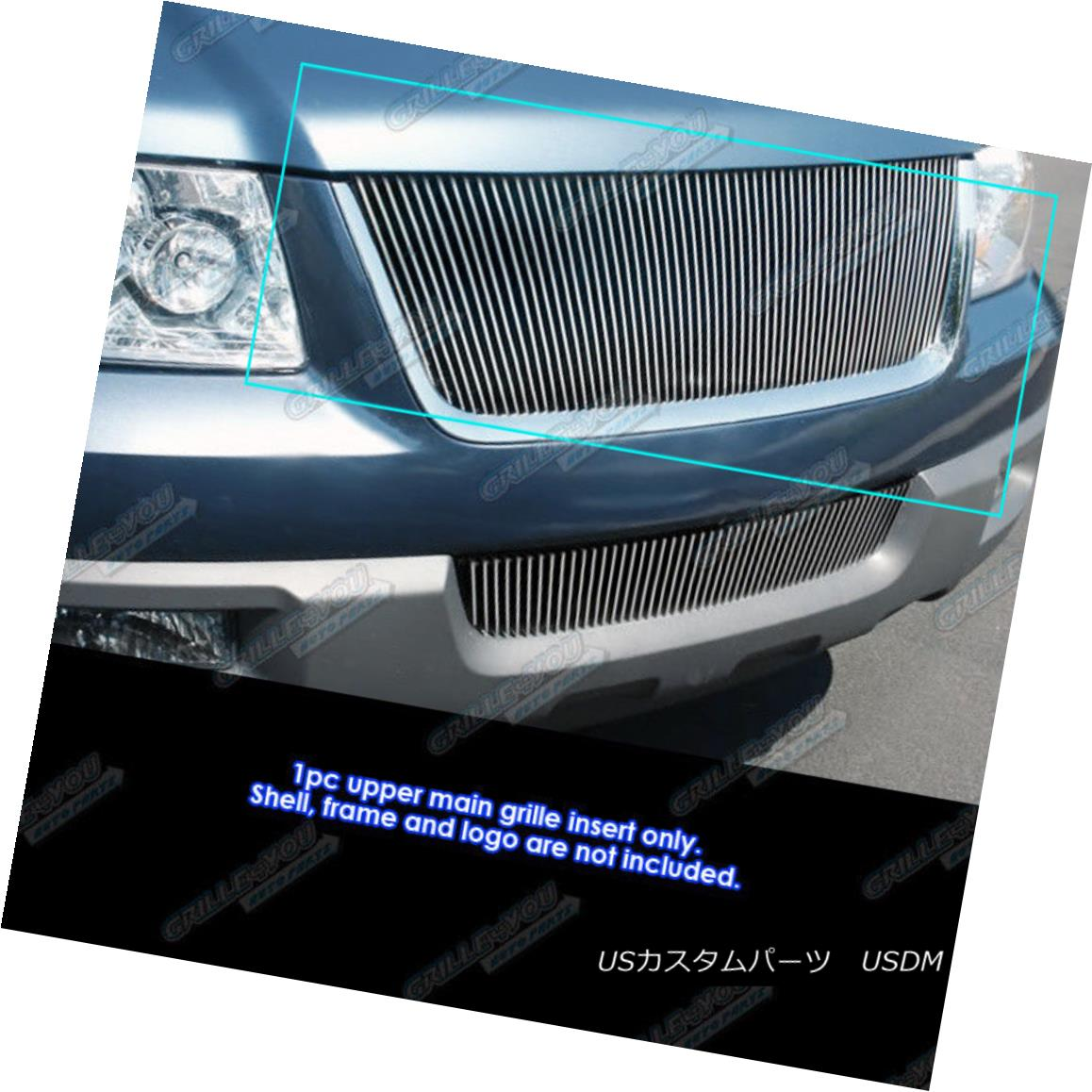 グリル Fits 2003-2006 Ford Expedition Vertical Billet Grille Grill Insert 2003-2006 Ford Expeditionの縦型ビレットグリルグリルインサートに適合