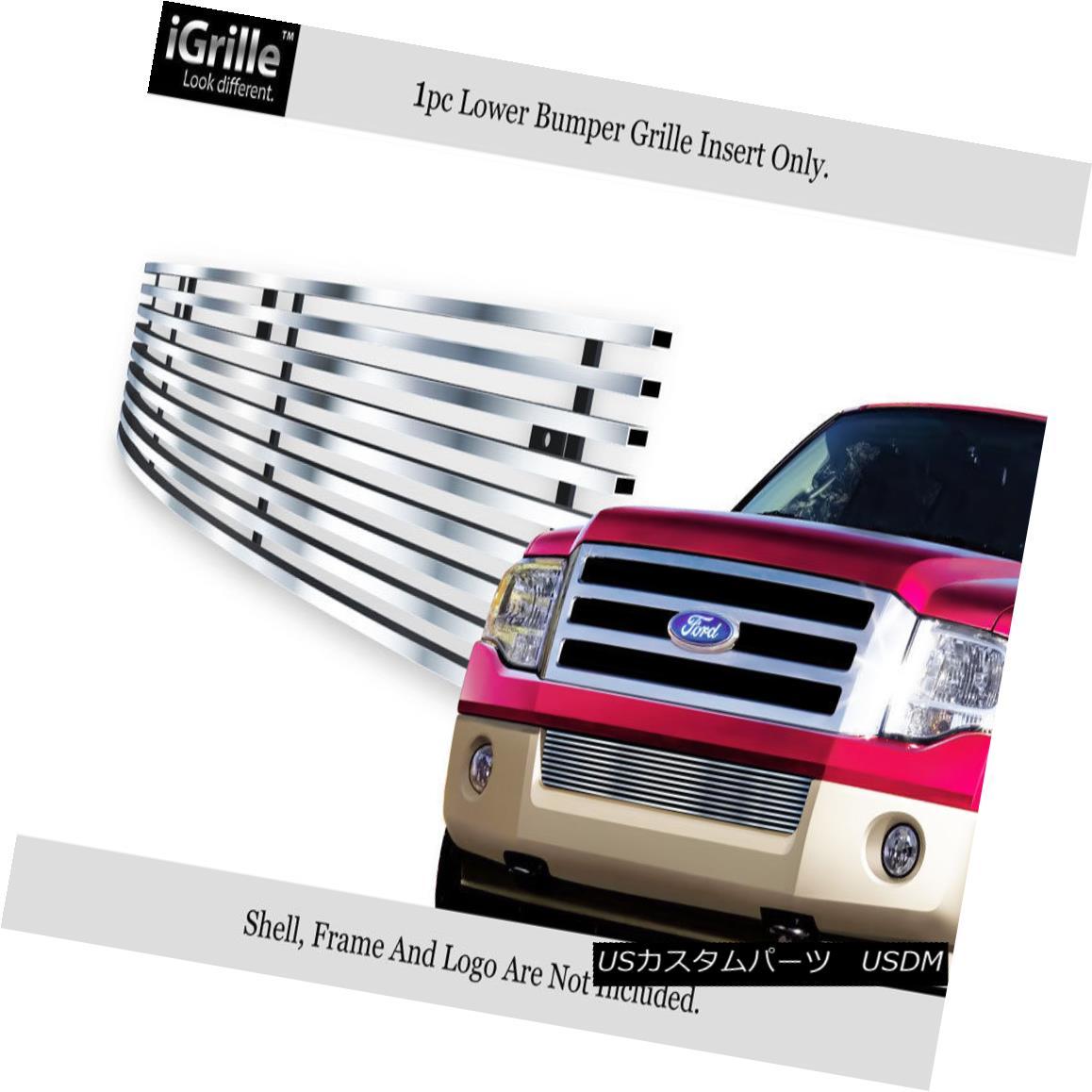 グリル Fits 2007-2014 Ford Expedition Bumper Stainless Steel Billet Grille Grill Insert フィット2007年?2014フォード遠征バンパーステンレス鋼ビレットグリルグリルインサート