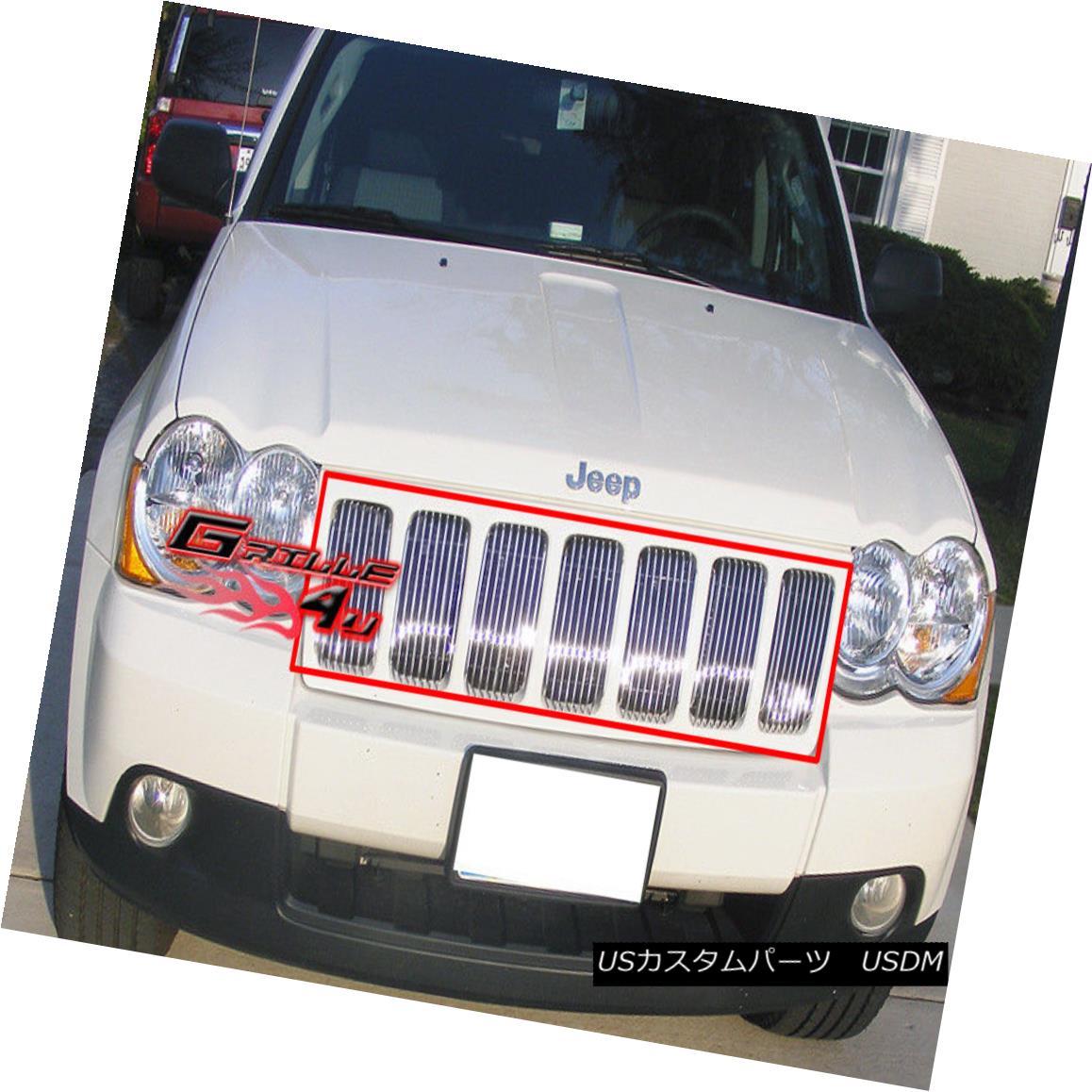 グリル Fits 2009-2010 Jeep Grand Cherokee Vertical Billet Grille 2009?2010年のジープ・グランド・チェロキー・ビレット・グリル