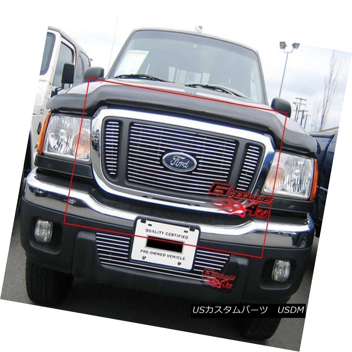 グリル Fits 2004-2005 Ford Ranger Billet Grille Insert フィッティング2004-2005フォードレンジャービレットグリルインサート