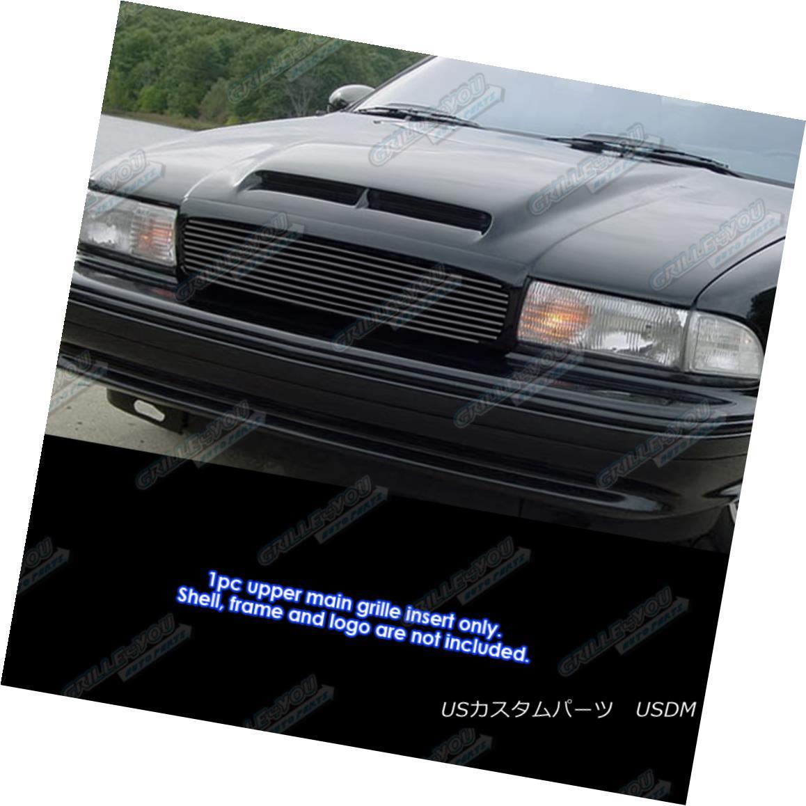 グリル Fits 1994-1996 Chevy Impala SS Black Billet Grille Grill Insert フィット1994-1996シェビーインパラSSブラックビレットグリルグリルインサート