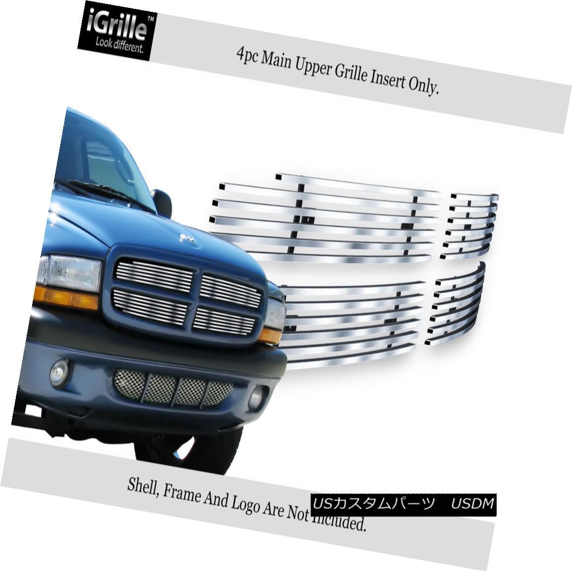 グリル For 97-04 Dodge Dakota 97-03 Durango Stainless Steel Billet Grille Insert 97-04ダッジダコタ97-03デュランゴステンレス鋼ビレットグリルインサート
