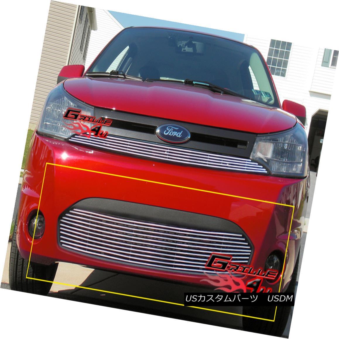 グリル Fits 2008-2011 Ford Focus Coupe Bumper Billet Grille Insert フィット2008年から2011年フォードフォーカスクーペバンパービレットグリルインサート