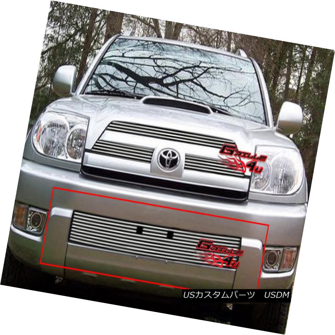 グリル Fits 2003-2005 Toyota 4Runner Lower Bumper Billet Grille Insert フィット2003-2005トヨタ4Runnerロワーバンパービレットグリルインサート