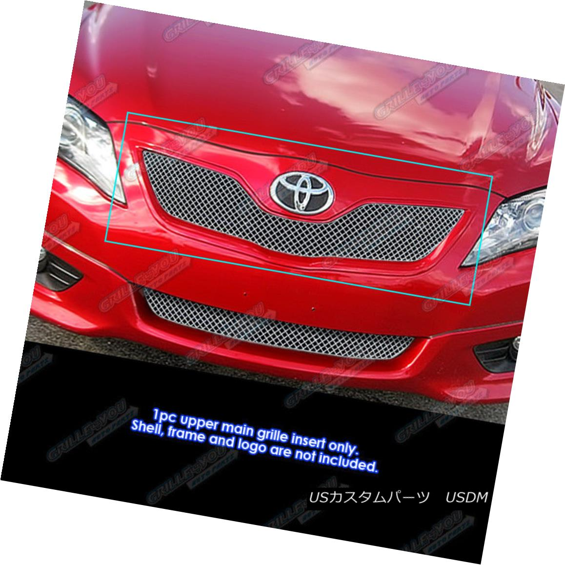 グリル Fits 2010-2011 Toyota Camry SE Stainless Steel X Mesh Grille Grill Insert フィット2010-2011トヨタカムリSEステンレス鋼Xメッシュグリルグリルインサート
