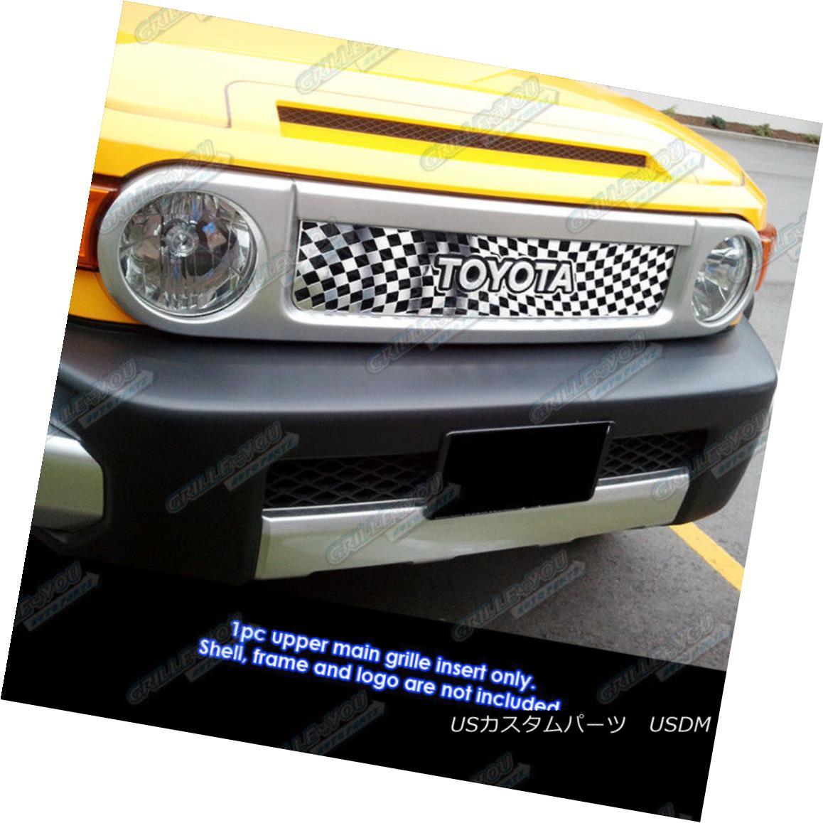グリル For 2007-2016 Toyota FJ Cruiser Stainless Steel Symbolic Grille Insert 2007-2016トヨタFJクルーザー用ステンレススチール製シンボリックグリルインサート